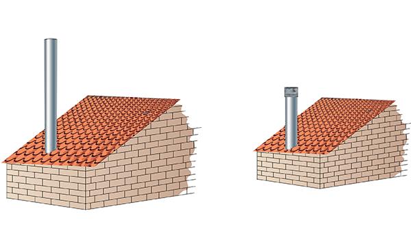 Tall chimney vs Draftbooster chimney fan